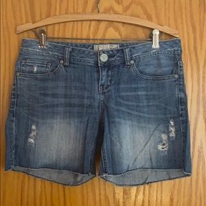 American Rag Distressed Jean Shorts (Juniors)
